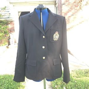 Ralph Lauren black wool blazer new size 12